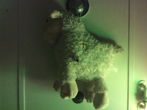 Teddy-sheep cushion